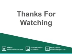 Thanks For Watching Ppt PowerPoint Presentation Gallery Slide Portrait