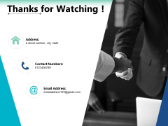 Thanks For Watching Ppt PowerPoint Presentation Icon Designs Download