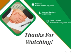 Thanks For Watching Ppt PowerPoint Presentation Infographics Display