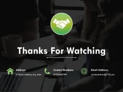 Thanks For Watching Ppt PowerPoint Presentation Inspiration Graphics Tutorials