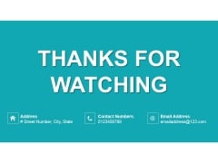 Thanks For Watching Ppt PowerPoint Presentation Inspiration Guidelines