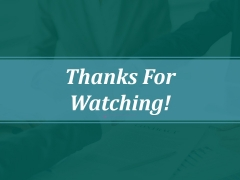 Thanks For Watching Ppt PowerPoint Presentation Model Example File