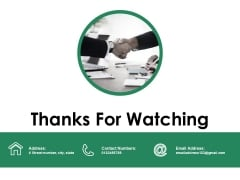 Thanks For Watching Ppt PowerPoint Presentation Model Portrait