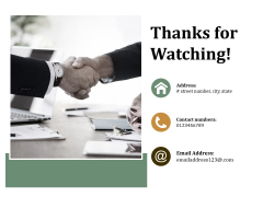Thanks For Watching Ppt PowerPoint Presentation Professional Maker