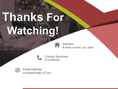 Thanks For Watching Ppt PowerPoint Presentation Slides Show