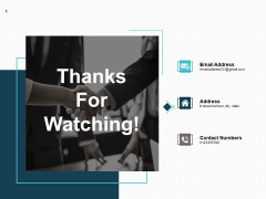 Thanks For Watching Software Distribution Ppt PowerPoint Presentation Summary Deck
