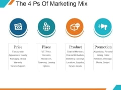 The 4 Ps Of Marketing Mix Ppt PowerPoint Presentation Icon