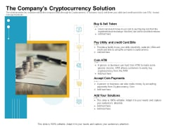 The Companys Cryptocurrency Solution Structure PDF