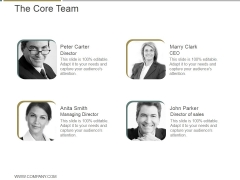 The Core Team Ppt PowerPoint Presentation Graphics