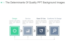 The Determinants Of Quality Ppt PowerPoint Presentation Design Templates