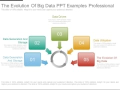The Evolution Of Big Data Ppt Examples Professional