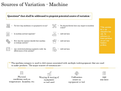 The Fishbone Analysis Tool Sources Of Variation Machine Summary PDF