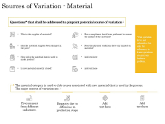 The Fishbone Analysis Tool Sources Of Variation Material Sample PDF