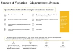 The Fishbone Analysis Tool Sources Of Variation Measurement System Slides PDF
