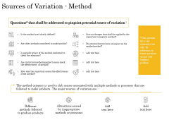 The Fishbone Analysis Tool Sources Of Variation Method Rules PDF