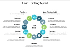 The Lean Thinking Model Ppt PowerPoint Presentation Outline Graphics Cpb