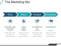 The Marketing Mix Ppt PowerPoint Presentation Deck