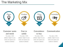 The Marketing Mix Ppt PowerPoint Presentation Design Templates
