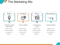 The Marketing Mix Ppt PowerPoint Presentation Shapes