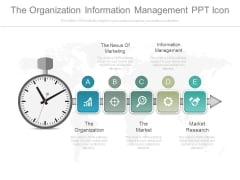 The Organization Information Management Ppt Icon