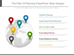 The Path Of Planning Powerpoint Slide Designs