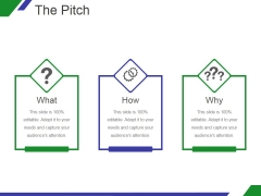 The Pitch Template 2 Ppt PowerPoint Presentation Icon