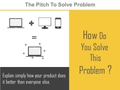 The Pitch To Solve Problem Ppt Slides