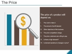The Price Ppt PowerPoint Presentation Summary