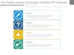The Problem Analysis And Solution Indication Ppt Examples