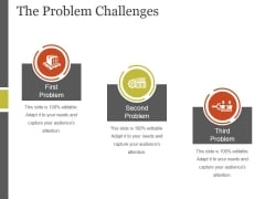 The Problem Challenges Template 1 Ppt PowerPoint Presentation Infographics