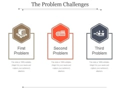 The Problem Challenges Template 1 Ppt PowerPoint Presentation Model