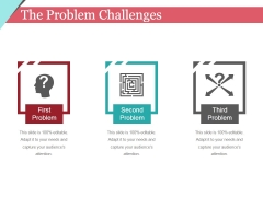 The Problem Challenges Template 2 Ppt PowerPoint Presentation Gallery Introduction