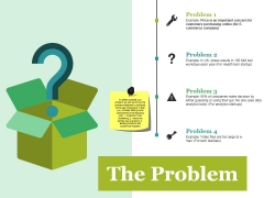 The Problem Ppt PowerPoint Presentation Ideas Slides