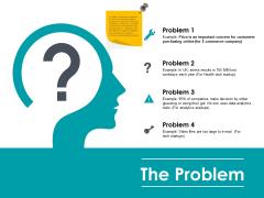 The Problem Ppt PowerPoint Presentation Outline Ideas