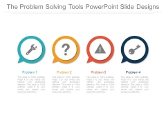 The Problem Solving Tools Powerpoint Slide Designs