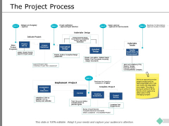 The Project Process Ppt PowerPoint Presentation Professional Microsoft