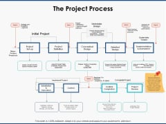 The Project Process Strategy Ppt PowerPoint Presentation Summary Vector