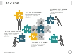 The Solution Ppt PowerPoint Presentation Infographic Template
