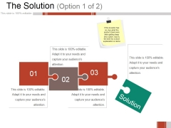 The Solution Ppt PowerPoint Presentation Professional Graphics Template
