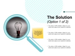 The Solution Ppt PowerPoint Presentation Slides Designs