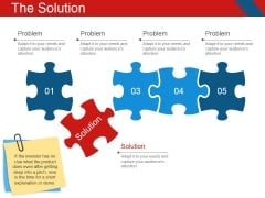 The Solution Template 1 Ppt PowerPoint Presentation Icon Files
