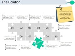 The Solution Template 1 Ppt PowerPoint Presentation Infographic Template Graphics Download
