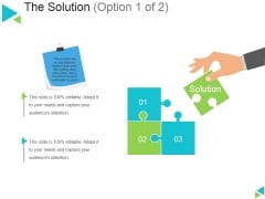 The Solution Template 1 Ppt PowerPoint Presentation Model Example Topics