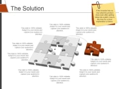 The Solution Template 1 Ppt PowerPoint Presentation Pictures Graphics