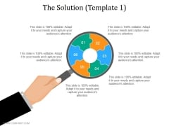 The Solution Template 1 Ppt PowerPoint Presentation Portfolio Inspiration