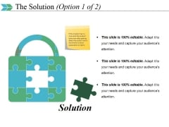 The Solution Template 1 Ppt PowerPoint Presentation Show Examples