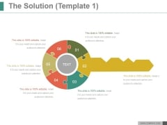 The Solution Template 1 Ppt PowerPoint Presentation Slide