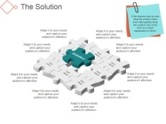 The Solution Template 1 Ppt PowerPoint Presentation Summary