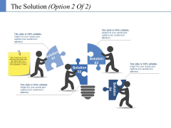 The Solution Template 2 Ppt PowerPoint Presentation Diagram Ppt