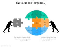 The Solution Template 2 Ppt PowerPoint Presentation Ideas Elements